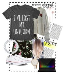 """""""Cress Darnel Thorne"""" by mg1023 ❤ liked on Polyvore featuring Sans Souci, Converse, Lokai, Razer and i.am+"""