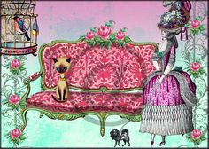 Marie Antoinette Boudoir 5x7 Digital Collage Sheet by HopePhotoArt, $2.98