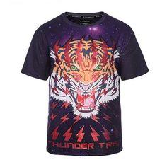 3cf0a267 2017 printed Fashion Brand Animal lion tiger shirts summer men Tops Tees  Plus Size casual women funny t shirt