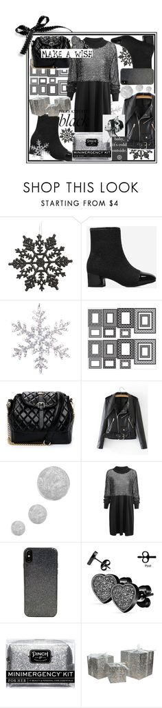 """Monochrome black,sometimes fashion is all about dark!"" by jelena-bozovic-1 ❤ liked on Polyvore featuring Wall Pops!, Topshop, Candywirez, West Coast Jewelry, Pinch Provisions and Northlight Homestore"
