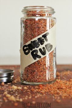 The BEST Sweet Rub for Grilled Pork and Chicken Homemade Sweet Rub. Amazing on grilled chicken, pork, shrimp, etc. Homemade Spices, Homemade Seasonings, Homemade Sweets, Homemade Bbq, Spice Blends, Spice Mixes, Dry Rub Recipes, Meat Rubs, Marinade Sauce