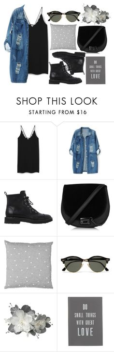 """Outfit #97"" by jordancydney ❤ liked on Polyvore featuring MANGO, Chicnova Fashion, Giuseppe Zanotti, Ray-Ban and The White Company"