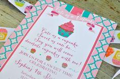 Cute as a CUPCAKE Birthday Party  Printable by LibbyLanePress, $16.00