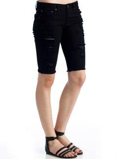 distressed bermuda denim shorts  25.30. Marta Linares 91bb22e57648