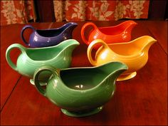 Vintage sauce boat - They are still using the same mold today.  You can only tell old from new by knowing the colors of the old