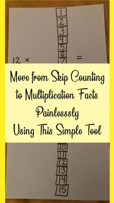 Multiplication-to-Skip-Counting Multiplication Strategies, Multiplication Tables, Math Fractions, Teaching Multiplication Facts, Division For Kids, Math Division, Math Help, Learn Math, Homeschool Math