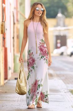 Free High Neck Maxi Dress Mockup PSD Template: If you are searching for an apparel design or want to personalize your dress for your forthcoming contest. Elegant Dresses For Women, Unique Dresses, Casual Dresses, Fashion Dresses, Women's Fashion, Long Dress Design, Long Sleeve Shirt Dress, Apparel Design, Dress For You