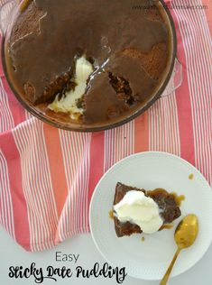 Easy Sticky Date Pudding Recipe