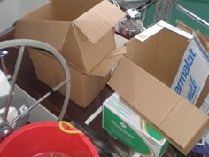Remove all cardboard packaging prior to storage to avoid picking up any nasty unwanted visitors onboard!