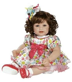 "Adora Seeing Spots Vinyl 20"" Baby Doll Brown Hair Blue Eyes  20"" Vinyl    #Adora"