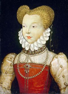 """Marguerite de Valois aka Reine Margot, daughter of Catherine de Médicis, sister of Henri III and wife of Henri IV. I always think of the French film, """"La Reine Margot,"""" starring Isabelle Huppert. Margot led an incredibly adventuresome life. French History, European History, Women In History, Costume Renaissance, Renaissance Art, Renaissance Fashion, François Ii, Medieval, 16th Century Fashion"""