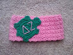 Delta Zeta Crochet Earwarmer