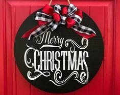 Christmas Door Hanger Christmas Wreath Christ the Savior is Front Door Christmas Decorations, Christmas Front Doors, Christmas Door Wreaths, Merry Christmas Sign, Christmas Wood, Holiday Wreaths, Christmas Crafts, Christmas Ideas, Christmas Plaques