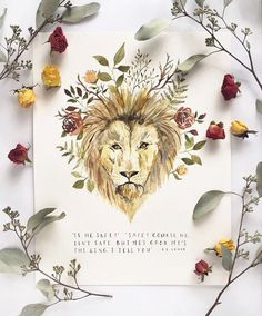 CS Lewis quote, Lion art, Aslan painting, Aslan print, Narnia print