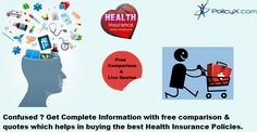 Get the best health insurance comparison in india from PolicyX.com where you get complete information about the mediclaim & medical insurance policies which help in buying the plan.http://www.policyx.com/health-insurance/compare-health-insurance.php