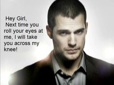 You've got my attention now! Fifty shades of grey Most Beautiful Man, Gorgeous Men, Henry Cavill Eyes, Ana Steele, Scott Eastwood, Hollywood Men, Fifty Shades Trilogy, Eye Roll, Matthew Mcconaughey
