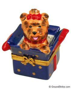 Rochard YorkshireTerrier in Box Limoges Box
