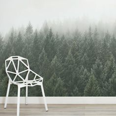 crisp-pines-forest-square-wall-murals