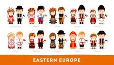Find Europeans National Clothes Eastern Europe Set stock images in HD and millions of other royalty-free stock photos, illustrations and vectors in the Shutterstock collection. Anastasia, Flat Illustration, Illustrations, Republic Symbol, Westerns, Costumes Around The World, Central Europe, Eastern Europe, Mongolia