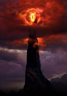The Eye of Sauron. Professor Tolkien's interpretation of evil. A lidless eye, wreathed in flame. Never resting, always vigilant. Jrr Tolkien, Legolas, Volcan Eruption, Barad Dur, Midle Earth, Seigner, O Hobbit, Fellowship Of The Ring, Movie Posters
