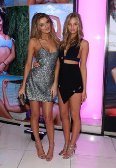 Bregje Heinen and Marloes Horst attend Club SI Swimsuit at LIV Nightclub hosted by Sports Illustrated at Fontainebleau Miami on February 19, 2014 in Miami