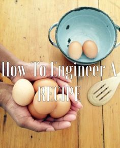 Designing your own recipe