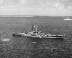 Battleship USS South Dakota at anchor at Ulithi Atoll, 8 December Uss Oklahoma, Uss Iowa, Us Naval Bases, Uss North Carolina, Uss Hornet, Uss Yorktown, Navy Coast Guard, Uss Lexington, Us Battleships
