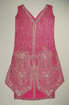 Evening dress Date: 1924 Culture: probably French Medium: silk, beads, rhinestones Accession Number: C.I.56.47.2