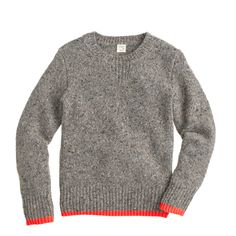 J.Crew boys' neon-tipped sweater in driftwood.