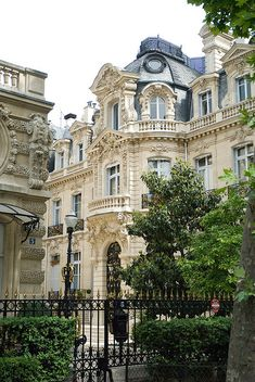 Gorgeous mansion on the western edge of the Parc Monceau, Paris. Photo by Paul Ashton