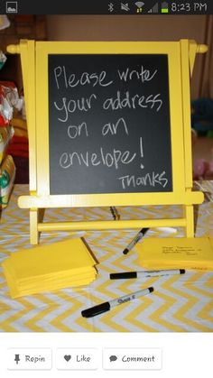Great idea for party thank you cards or to keep in touch with friends at college after a graduation party.