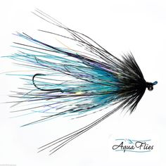 Stu's Intruder Steelhead Fly Aqua Flies Black/Blue 3 Flies Free Shipping