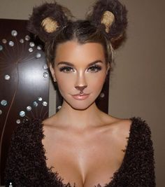 Loved this #Bear #Halloween makeup on the beautiful /emilysears/. Ur too cute babe!!! Miss you!!! Wish it was Halloween already.