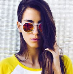 Fancy - Retro Frosted Flash Sunglasses 8932 by zeroUV