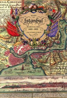 Maps of Istanbul. oh Istanbul. Vintage Maps, Antique Maps, Vintage Travel Posters, Vintage Graphic, Map Globe, Old Maps, Turkey Travel, Foto Art, Ottoman Empire