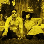 She & Him. l Zooey Deschanel (vocals, piano, ukulele)—who is also hilar on New Girl— and M. Ward (guitar, production) Great listen!