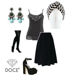 Un look con mucho estilo. Tocado Bárbara Black Candy Cane #cancer #fashion #turban #turbante