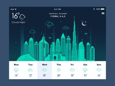 Weather App - by Wa$i Malik | #ui