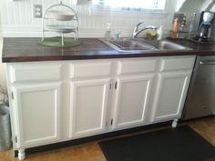 Breakfast For Dinner: $24 Update to My Builder Grade Cabinets