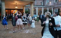 Spring wedding in the snow at Alexander House, Turners Hill