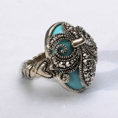 Bohemian Ring/Fleur de lis Ring/Cocktail Ring/Victorian Ring/Boho Chic Jewelry/Renaissance Jewelry
