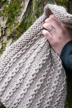 Tuto tricot débutants grosse écharpe motif