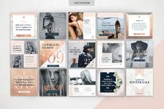 ROSE GOLD Theme | Social Media Pack - Web Elements - 4