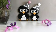 Nytårspynt i perler Fuse Bead Patterns, Perler Patterns, Beading Patterns, Fuse Beads, Pearler Beads, Christmas Perler Beads, Pearl Crafts, Hama Beads Design, Iron Beads