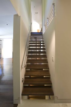 Cool Stair Handrail Technique New York Modern Staircase Remodeling Ideas  With Baseboards Dark Floor Guardrail Handrail