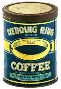 Wedding Ring Brand Coffee Coffee Box, Coffee Stands, Coffee Corner, Vintage Packaging, Coffee Packaging, Vintage Tins, Vintage Coffee, Coffee Names, Coffee Container