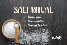 Learn how to use salt for Spiritual Protection with an easy home cleanse spell that you can cast at any time to bring good luck and feel safer. Good Luck Spells, Easy Spells, Protection Spells, Home Protection, Curse Spells, Banishing Spell, White Magic Spells, Spells For Beginners, Salt