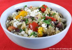 For the Love of Cooking » Greek Quinoa