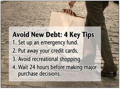 Tips to avoid NEW debt!