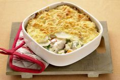 This traditional Fish Pie is quick and easy to make and which fish to use is up to you. The perfect lunch or dinner dish.